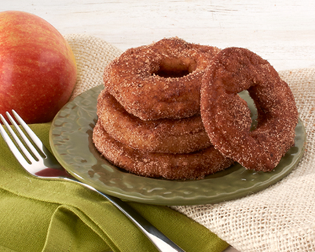 Cinnamon Sugar Apple Fritter Rings