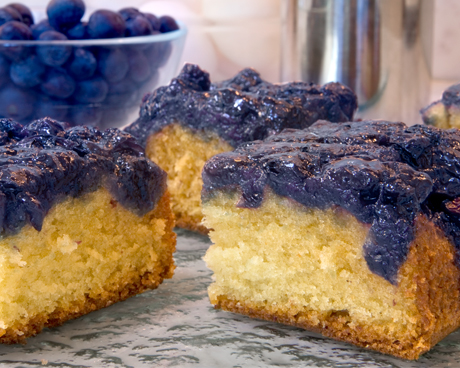 Blueberry Ginger Upside Down Cake