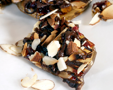 Dark Chocolate, Almond & Cranberry Brittle
