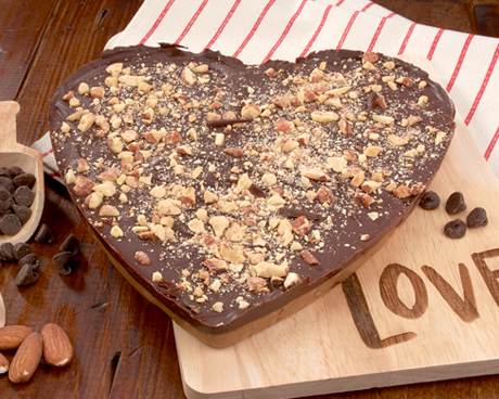 Chocolate Almond Heart