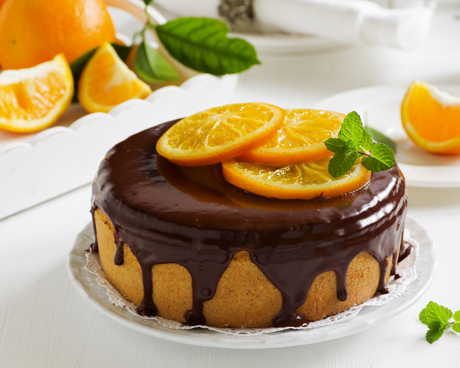 Gluten-Free Orange Cake with Chocolate Glaze