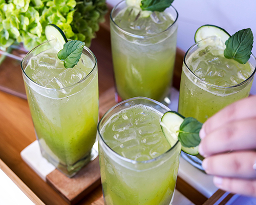"Cucumber Mint ""Italian Soda"""