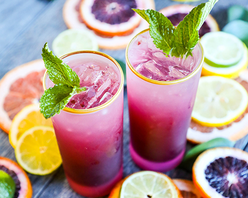 "Blood Orange and Ginger ""Italian Soda"""