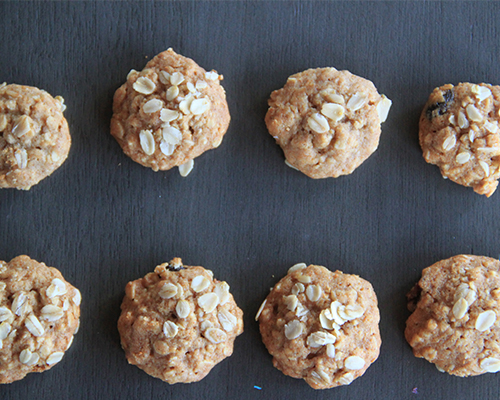 Agave Soft Oatmeal Raisin Cookies