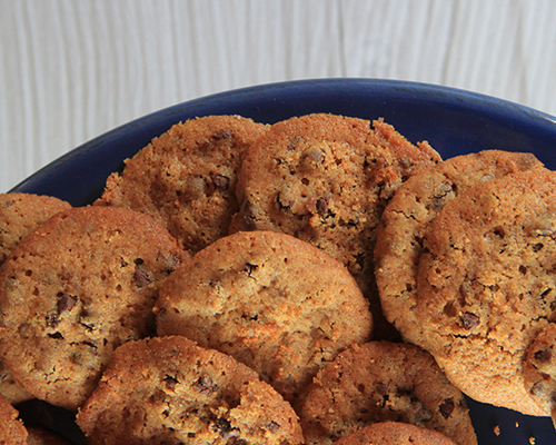 Agave Peanut Butter Chocolate Chip Cookies