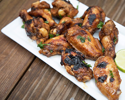 Chile-Agave Glazed Chicken Wings