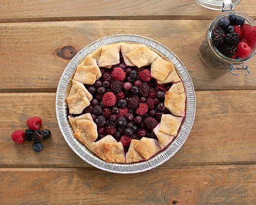 Grilled Mixed Berry Pie