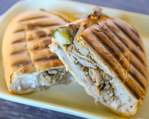 Cuban Sandwich with Brown Sugar Roasted Pork Shoulder