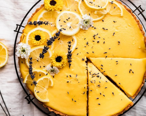 lemon lav tart